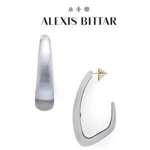 Alexis Bittar Angled Lucite Earrings